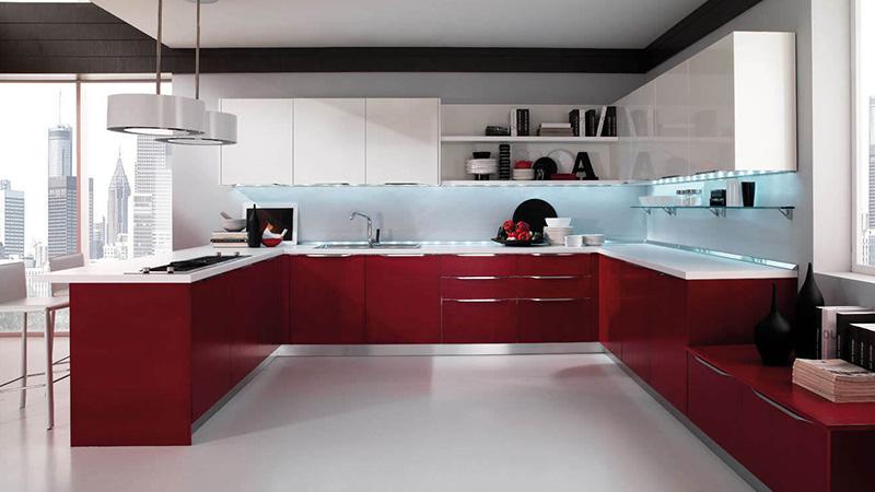 قرمز و سفید، طراحی شیک و کلاسیک