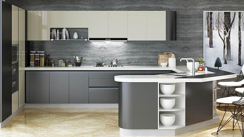 جدیدترین طرح های کابینت آشپزخانه هایگلاس (رنگ، طرح و ترندهای 2020)