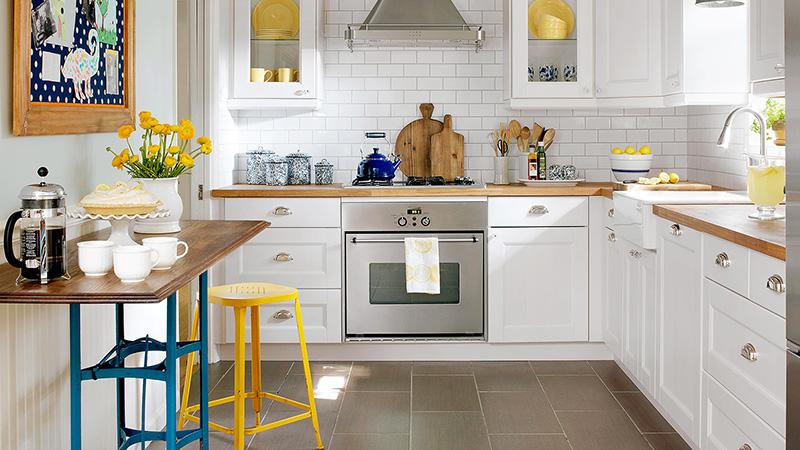 رنگ بندی کابینت ممبران با توجه به اندازه آشپزخانه