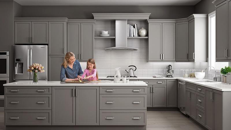 خاکستری، انتخابی مناسب برای بهترین ترکیب رنگ کابینت